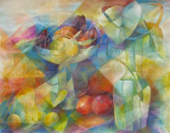 Früchteschale mit Bodenseekaraffe (4. Version) 1992-2014