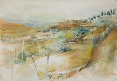 Sizilianische Landschaft (2.Version) 1988-2014