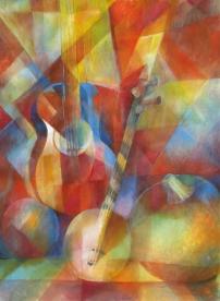 Stilleben mit Musikinstrumenten (4. Version) -2019